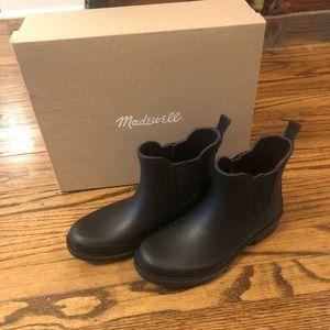 NWT Madewell The Chelsea Rain Boot True Black 5